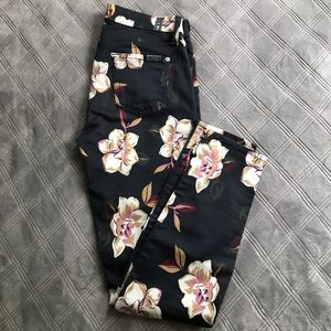 7 for all mankind size 26 skinny floral jeans